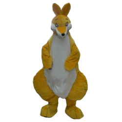 Loving Yellow Mother Kangaroo Mascot Costume