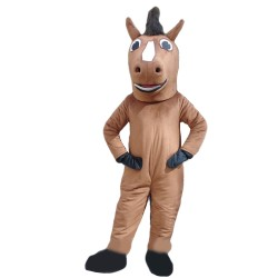 Running Brown Horse Mascot Costume