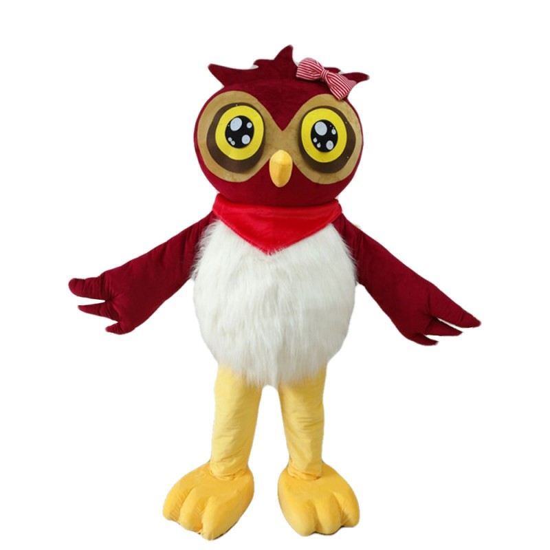 New Style Customized Owl With Pink Bow Mascot Costume