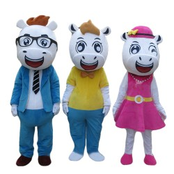 High Quality Top Sale Harmonious Horse Family Mascot Costume