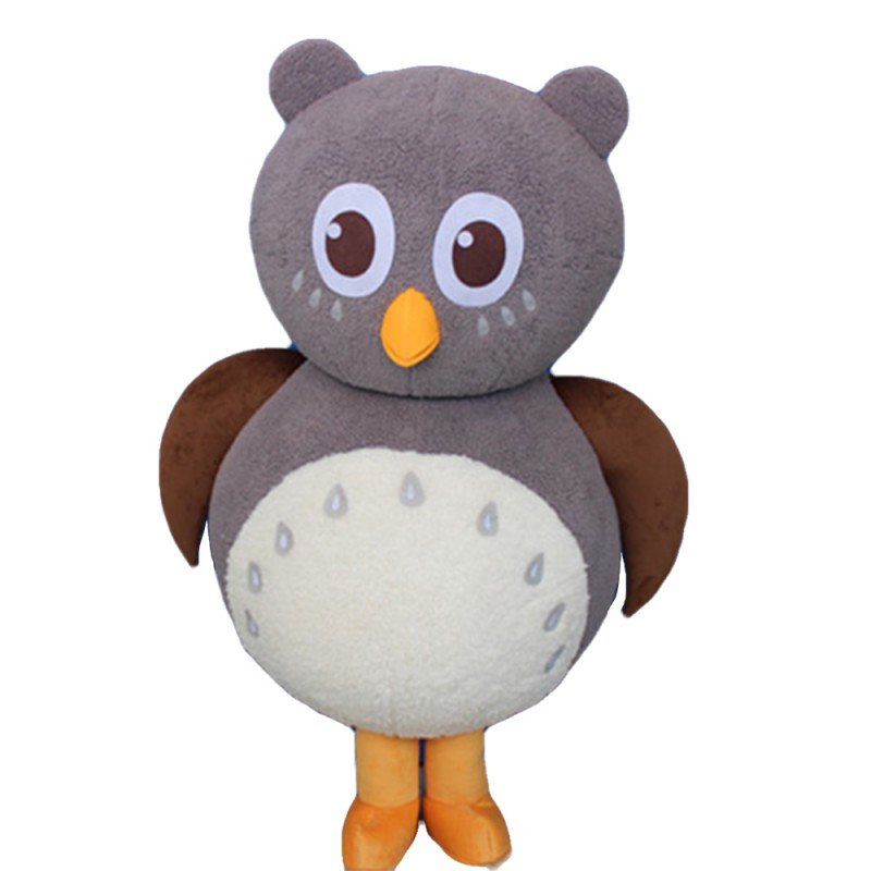 Classic Version Cartoon Grey Owl Mascot Costume