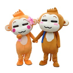 Hot Sale Quality Loving Monkey Couple Mascot Costume