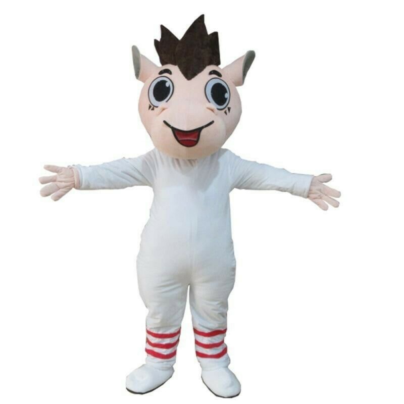 Funny Cartoon So Cute White Horse Mascot Costume