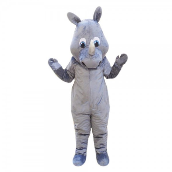 Basic Version Furry Grey Rhino Mascot Costume