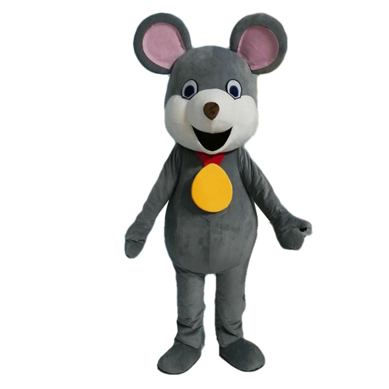 Lucky Mouse With Gold Medal Mascot Costume