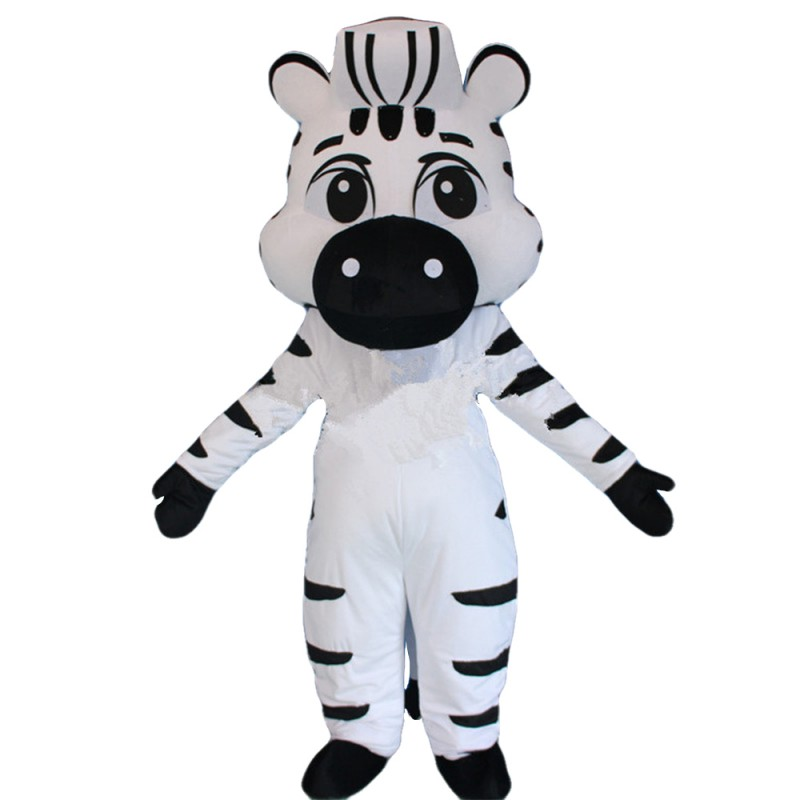 Cartoon Style Zebra Mascot Costume For Opening Event