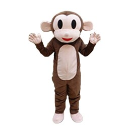 Free Shipping Happy Mokey Mascot Costume