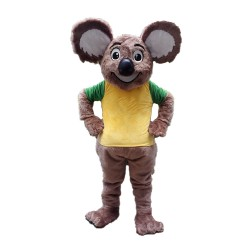 Adult Hot Furry Koala With Yellow Top Mascot Costume