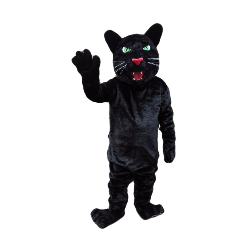 Strong Powerful Black Leopard Mascot Costume