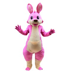 For Adult Lively Pink Kangaroo Mascot Costume