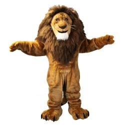 Strong Long Mane Lion King Mascot Costume