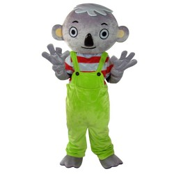 Special Style Koala Boy With Green Pants Mascot Costume