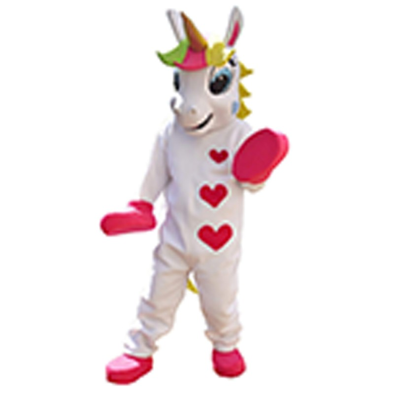 New Hot Sale Colorful Unicorn With Three Hearts Mascot Costume