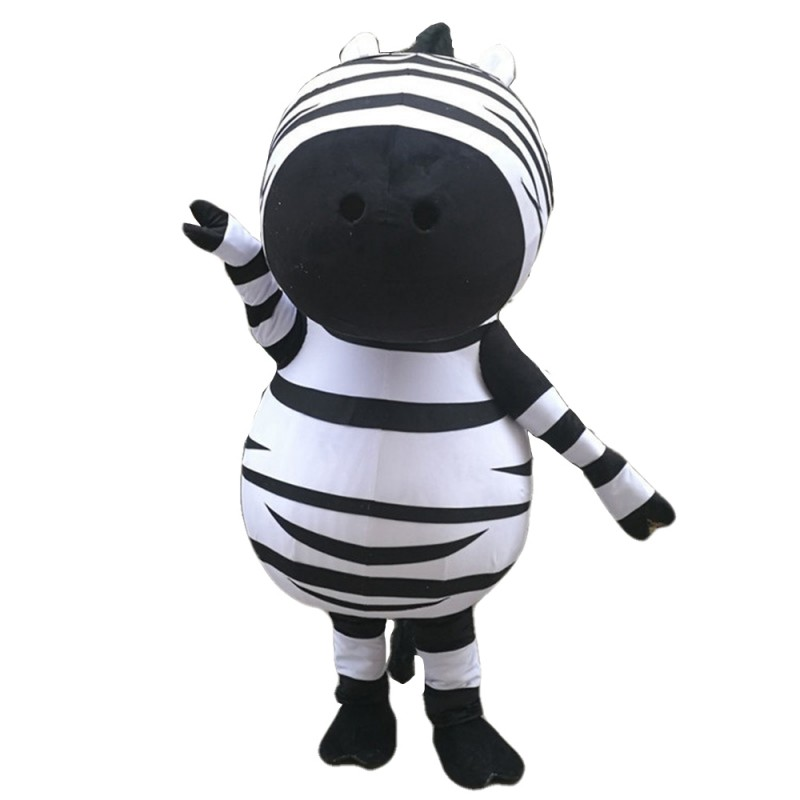 Funny Interesting Cartoon Big Head Zebra Mascot Costume