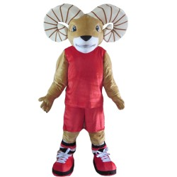 Quality Strong Ram With Sports Set Mascot Costume