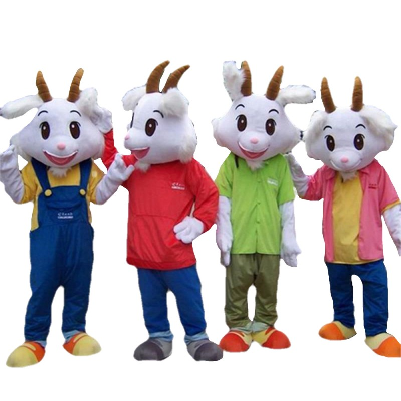 Different Style Goat Mascot Costume For Large Family Gathering Campaign