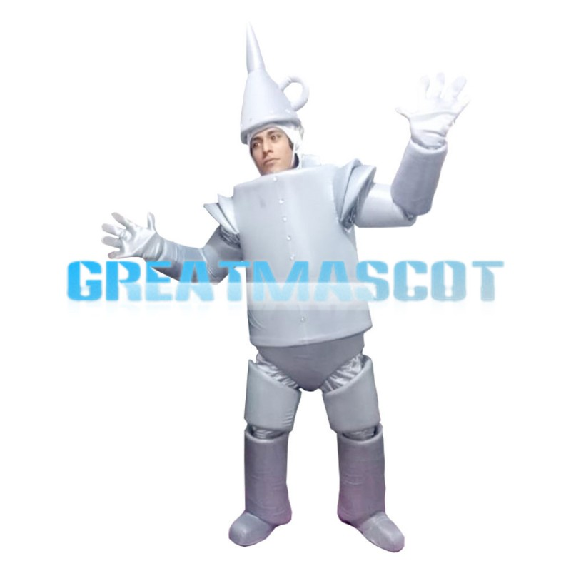 For Theme Event Strange Tin Robot Mascot Costume