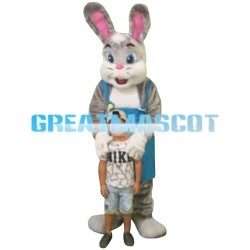 Quality Dear Grey & White Rabbit Mascot Costume