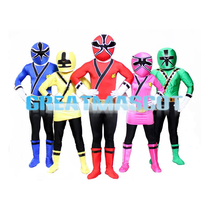 Colorful Robot With Special Mask Mascot Costume