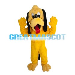 Plush Naughty Yellow Dog Mascot Costume