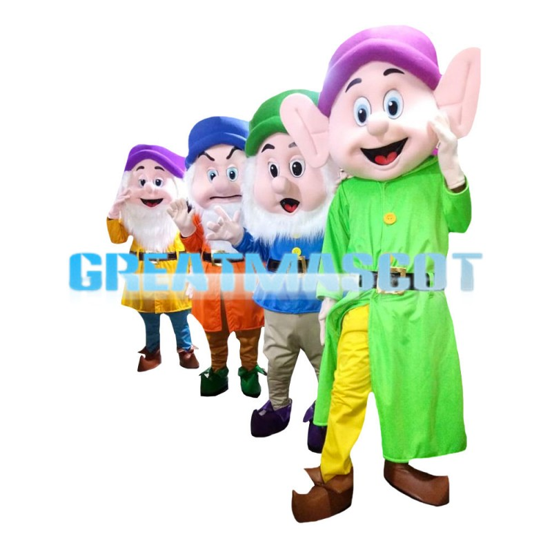 Top Sale Smart Dwarf With Colorful Coat Mascot Costume