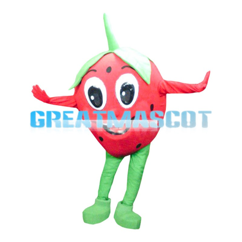 Lovely Big Eyes Strawberry Baby Mascot Costume