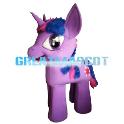 Adult Cartoon Big Eyes Pony With Horn Mascot Costume