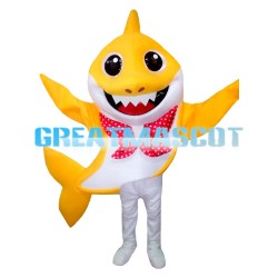 Likable Yellow Shark Mascot Costume For Celebration