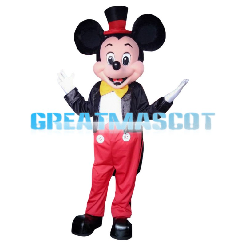 Polite Gentleman Mickey Mouse Mascot Costume