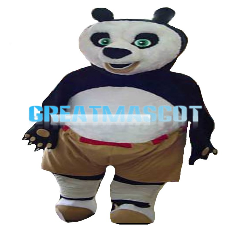 Big Strong Kungfu Panda Mascot Costume