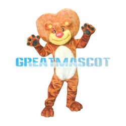New Lifesome Lion With Caring Mane Mascot Costume