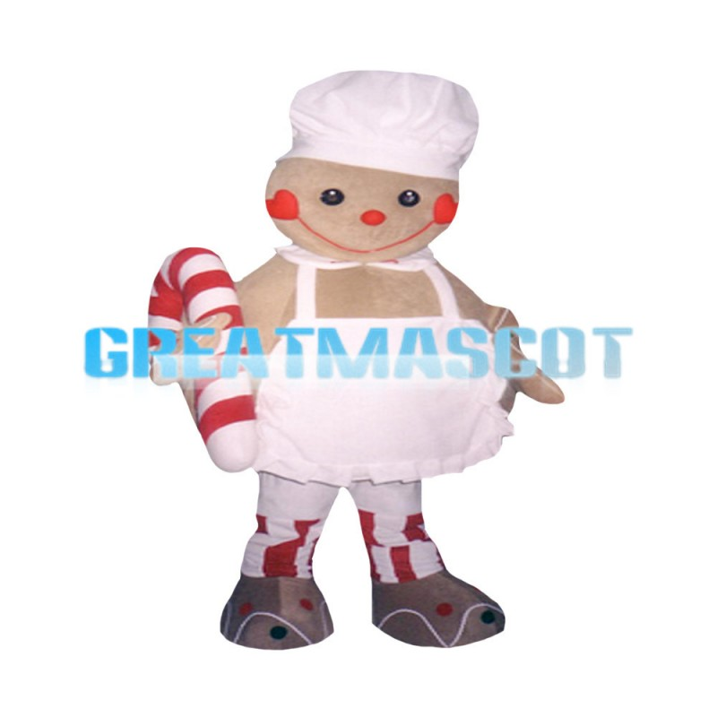 Round Body Chef Doll Holding Candy Mascot Costume