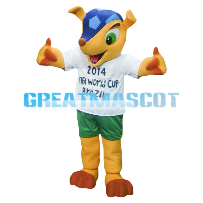 Fashion World Cup Yellow Deer Mascot Costume
