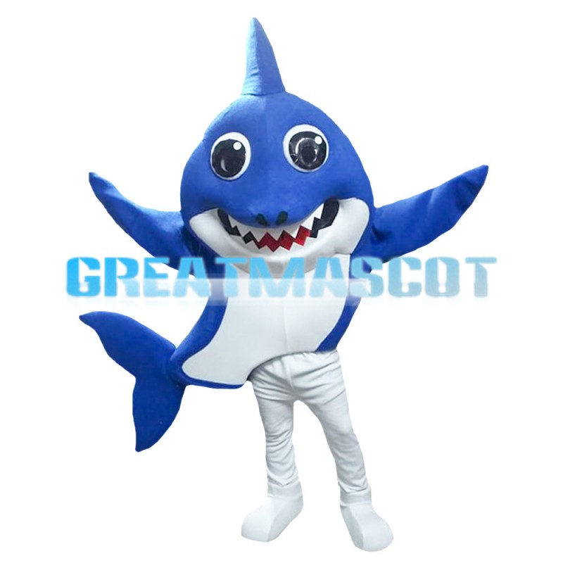 Cartoon Bright Eyes Shark Mascot Costume