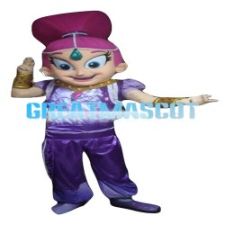 Indian Dancer Girl With Purple Set Mascot Costume