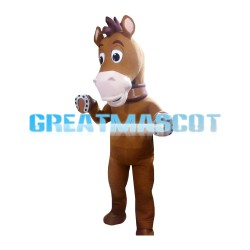 Free Shipping Standing Brown Horse Mascot Costume