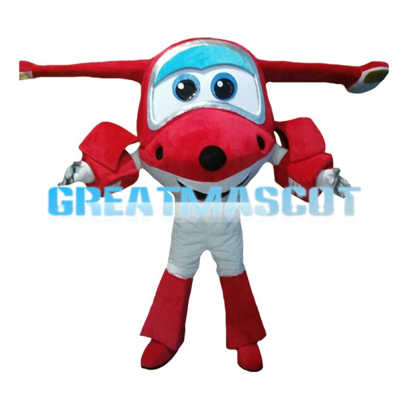 Cartoon Red Aircraft Doll Mascot Costume