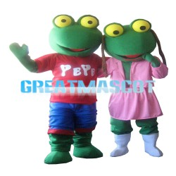 Unisex Frog Couple With Sports Set Mascot Costume