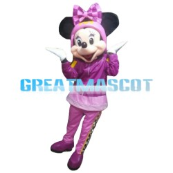 Hot Sale Purple Mickey Mouse With Headband Mascot Costume