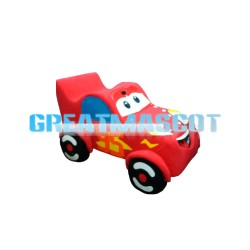 Interesting Cartoon Red Car Mascot Costume