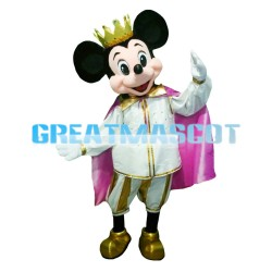 Princess Mickey Mouse With Crown Mascot Costume