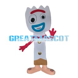 Funny Style Doll With Zigzag Hair Mascot Costume