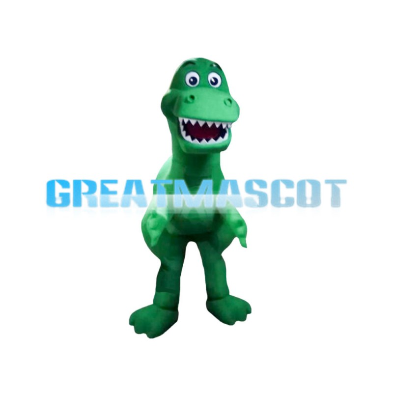 Green Little Dragon With Sharp Tooth Mascot Costume