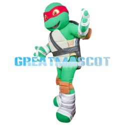 Powerful Ninja Turtle With Red Blindfold Mascot Costume