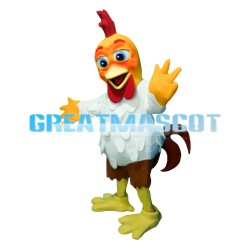 Adult Hot Interesting White Chicken Mascot Costume