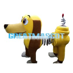 New Kind Yellow Spring Dog Mascot Costume