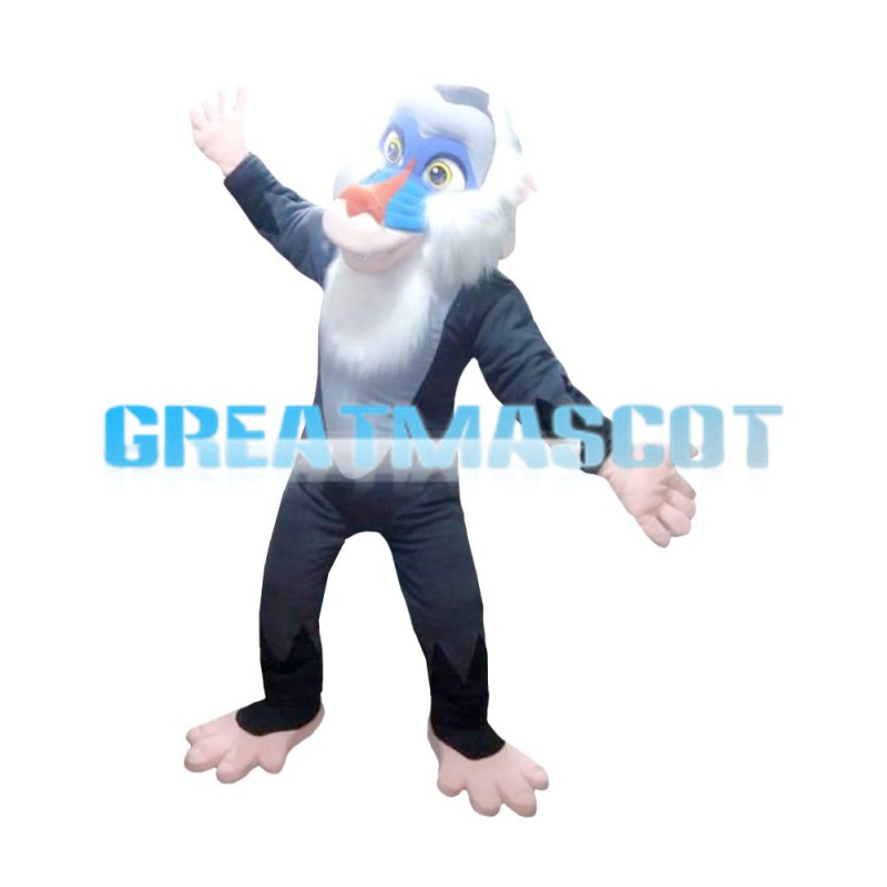 Old Blue Face Wild Monkey Mascot Costume