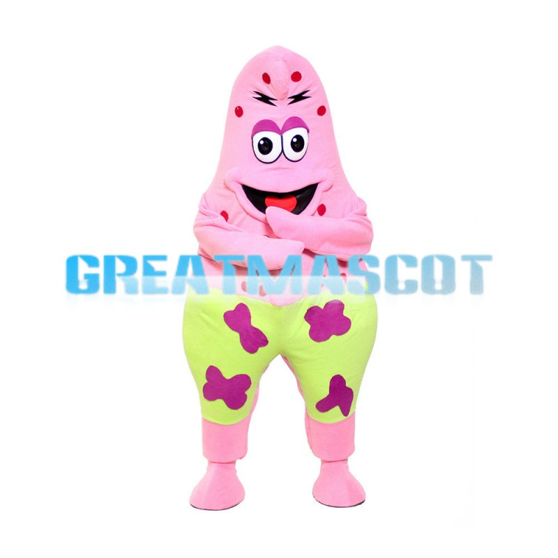 Lifesome Patrick Star With Light Green Shorts Mascot Costume