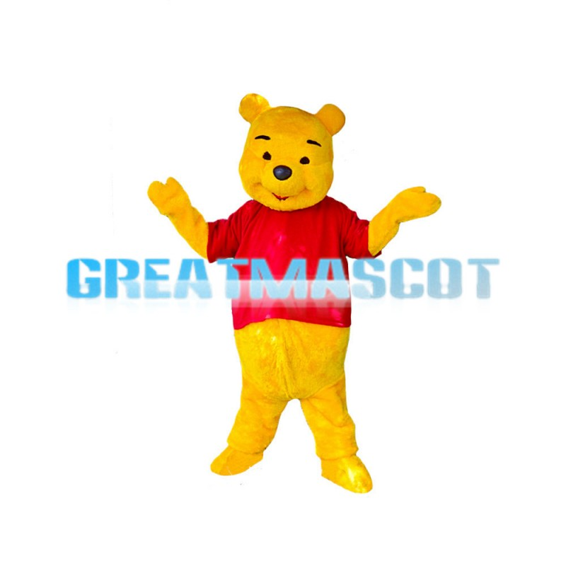 Children Love Cute Pooh Bear Mascot Costume