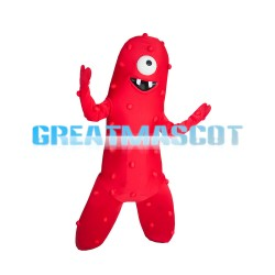 One-eyed Long Red Monster Mascot Costume